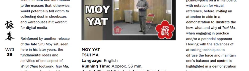 WCI Review – Moy Yat – Tsui Ma