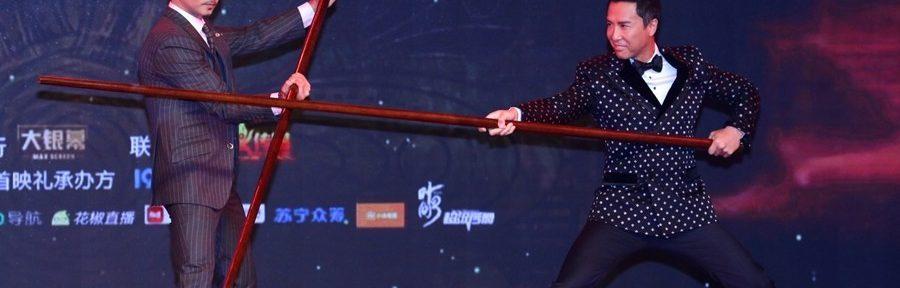 Bruce Bao Long Poles Used at Ip Man 3 Opening