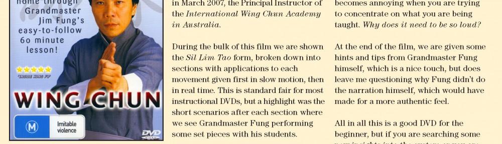 Review – Jim Fung's Wing Chun DVD