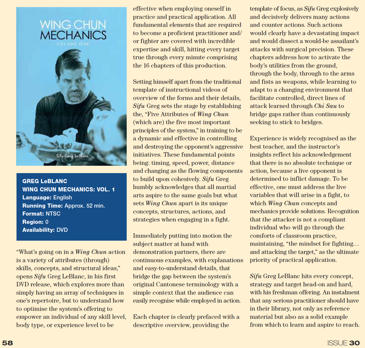 WCI Review - Issue 30a - Greg LeBlanc - DVD1