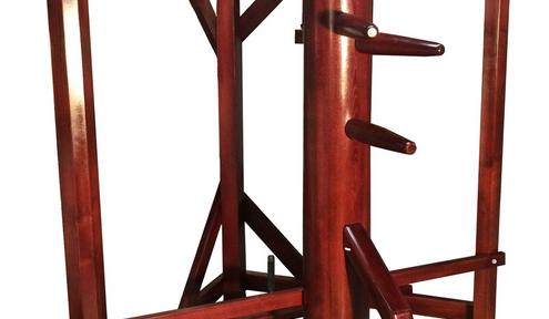 New!  Warrior Martial Art's Wooden Dummy with Corner Stand