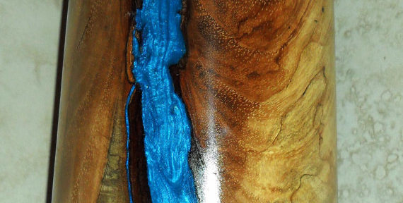 Wooden Dummy Cracking Solutions – Make It Beautiful with Colored Epoxy