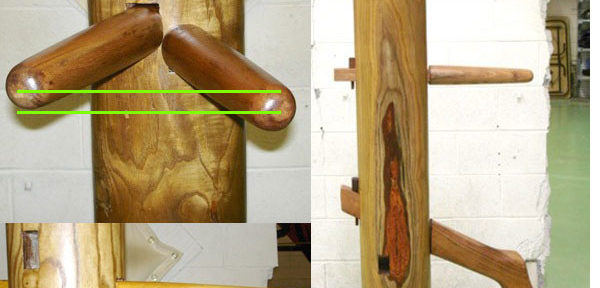 Traditional vs Parallel Arms on a Wooden Dummy