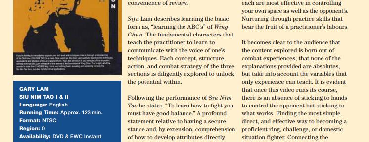 Review – Gary Lam Siu Nim Tao 1 & 2