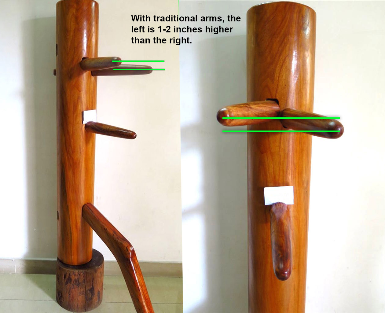 Traditional Parallel Arms Wooden Dummy